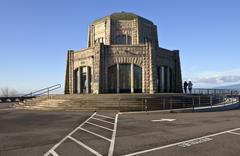vista house landmark in northern oregon. - stock photo