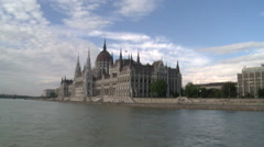 Parliament Building in Budapest Stock Footage