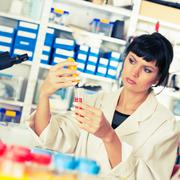 Young student woman medical / scientific research / doctor make food quality  Kuvituskuvat