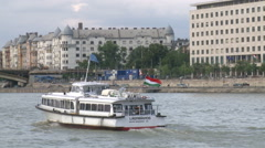 River of Danube By Boat Stock Footage