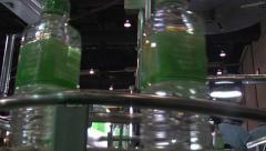 Plastic Water Bottle Factory Industry Bottling Manufacture Production Line 8190 Stock Footage