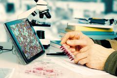 Genetic laboratory Stock Photos