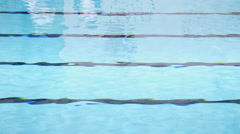 Swimming Pool Lanes Horizontal Lines Background Stock Footage