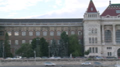 Budapest University of Technology And Danube River Stock Footage