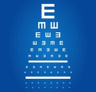 Eye Sight Test Chart - stock illustration
