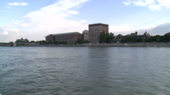Danube And New Buildings Stock Footage