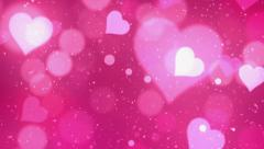 Stock Video Footage of Pink Valentine Background