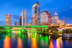Tampa, florida skyline Kuvituskuvat