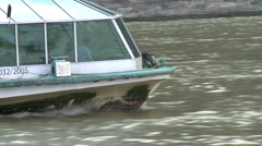 Boat Follow The Danube Stock Footage