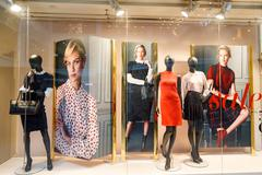 Boutique display window - singapore ,09 october 2014 Stock Photos