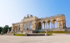 View on gloriette structure in schonbrunn palace, vienna, austria Stock Photos
