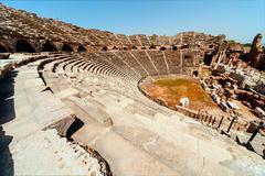 Ancient side amphitheatre Stock Photos