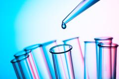 Scientific concept, pipette and test tube Stock Photos