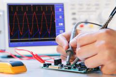 Development of an electronic micro processor Stock Photos