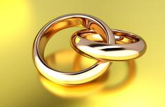 Gold rings Stock Illustration