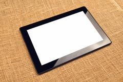 Digital tablet computer with blank white screen Stock Photos