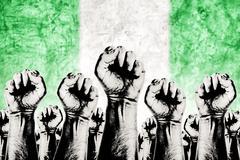 Stock Illustration of nigeria labor movement, workers union strike