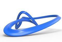 3d abstract  twirl - stock illustration