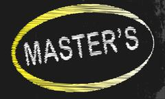 Masters blackboard Stock Illustration