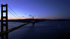 Motion Control Pan Time Lapse of Golden Gate Bridge at Sunrise -Zoom In- Stock Footage