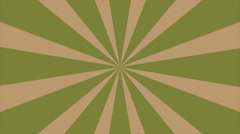 Retro Abstract Sunburst Background Pastel Green - stock footage
