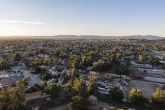 san fernando valley sunrise - stock photo