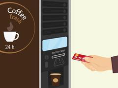 Coffee vending machine Stock Illustration
