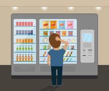 Snack vending machine - stock illustration