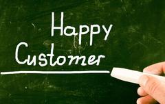 Happy customer Stock Illustration