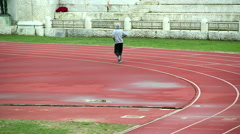 Tired runner Stock Footage