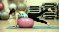 beautiful sexy girl doing exercises with a ball 6 Footage
