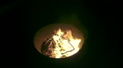 Fire Pit 4K Stock Footage