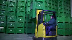 Forklift Driver Stock Footage
