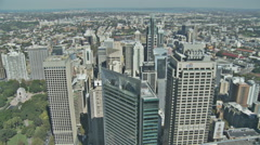 Looking down on Sydney skyscrapers Stock Footage