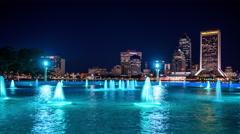 Jacksonville, florida skyline time lapse Stock Footage