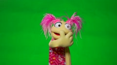 Muppet puppet  Variety of   Actions. Stock Footage