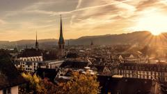 Zürich Sunset Stock Footage