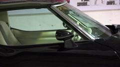 aerodynamics of the body of a sports car Chevrolet Corvette Stingray C3 1978 - stock footage