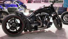 Showing legendary sport motorcycles on display. HD quality. 50 fps Stock Footage