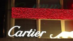 Cartier jewellery at christmas Stock Footage