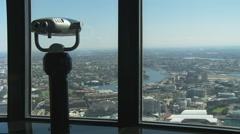 Binoculars at Sydney Observation tower Stock Footage