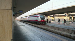 Bologna - January 2015 Arrival of the train to the station in Bologna, Italy. Stock Footage