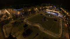 King Tomislav square before New Year's Eve Stock Footage