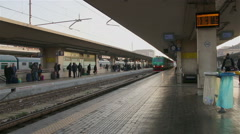 Bologna - January 2015 Arrival of the regional train to the station in Bologna,  Stock Footage