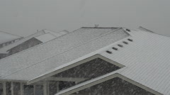 Time-lapse, snow falling on roof, long duration Stock Footage