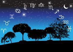 Set of Symbol Zodiac Sign. Vector Illustration Stock Illustration