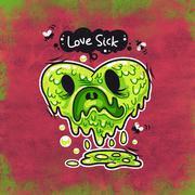 Love Sick - stock illustration