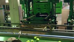 Assembly line, production line, conveyor belt Stock Footage