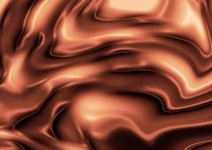 Silky brown rippled background Stock Illustration