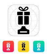 Best gift icon on white background. Stock Illustration